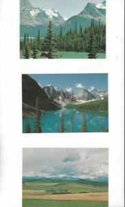 Canada .08 Postal Cards, 5 Dif. With Scenes From Alberta Province Mint