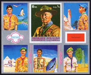 Sharjah Mi Block 99 (#913)  mnh s/s - 1971 World Scout Jamboree Japan