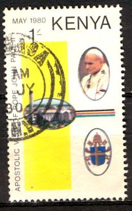 Kenya; 1980: Sc. # 168: O/Used CTO Single Stamp