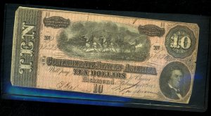 CSA 1864 $10 Note Nice COndition Used Defects