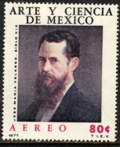 MEXICO C382 Art & Science Jose M Velasco PORTRAIT. MINT, NH. F-VF