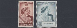 BAHAMAS     1948 - 49  ROYAL SILVER WEDDING  MH
