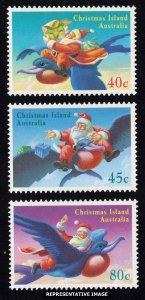 Christmas Islands Scott 370-372 Mint never hinged.