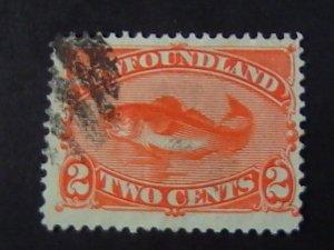 NEWFOUNDLAND # 48-USED---SINGLE------1887-96