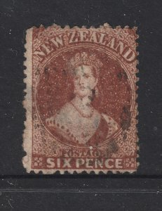 New Zealand a 6d brown  QV FFQ