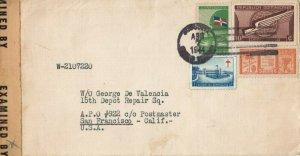 Dominican Republic 1944 Cover to Soldier in Australia Censored