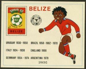 BELIZE Sc#607-608 1981 Spain '82 World Cup Soccer Souvenir Sheets Mint NH