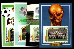ST.VINCENT SGMS995 1986 FOOTBALL WORLD CUP MNH