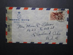 Mexico 1944 Ritz Hotel Censor Cover to USA - Z12011