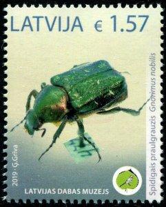 HERRICKSTAMP NEW ISSUES LATVIA Sc.# 1015 Nature Museum - Beetle