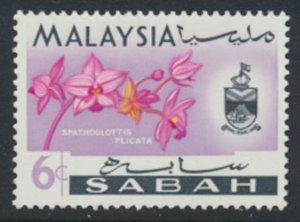 SABAH SG 427  SC# 20 MVLH* Flower  see scans /details