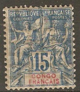 French Congo 24 Cer 17 MLH F/VF 1892 SCV $52.50