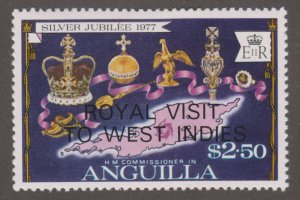 Anguilla 300 Coronation regalia and map of Anguilla O/P 1977