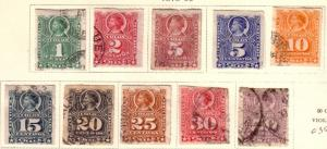 Chile #25-34  1878-99 issues (U) CV$35.00