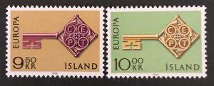 Iceland 1966 #395-96 MNH, CV $3