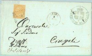 89461 - REGNO - STORIA POSTALE - Annullo NUMERALE su BUSTA: Macerata  APIRO 1870