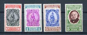Paraguay 1940 Sc 378-1 MNH Post en stamps Centenary 8218