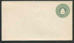 BR GUIANA 1c Ship type envelope unused.....................................61497