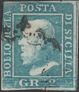 TWO SICILIES 2 Gr  Used FVF (51418)