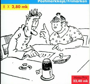 Finland Stamp Sc#1022a -(1996) - Booklet - Finish Comic Strips