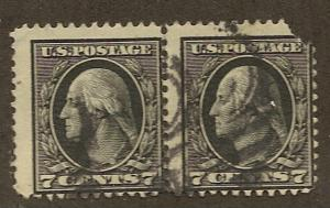 407 Used 7 c. Washington Pair, scv: $28 (for a pair)