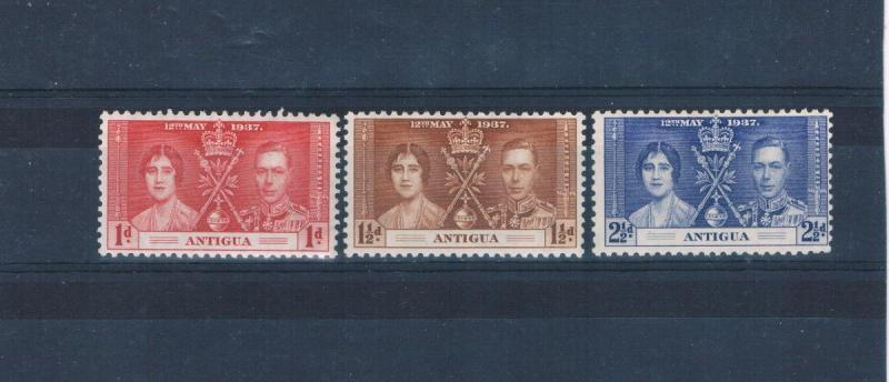 Antigua 81-83 MLH set Coronation Issue  (A0185)