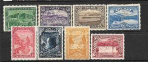 TASMANIA  1899-00  PICTORIALS SET 8    MH/MNG   SG 229-36