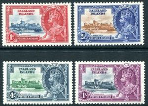 FALKLAND ISLANDS-1935  Silver Jubilee Set Sg 139-142 MOUNTED MINT V30334