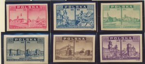 Poland Stamps Scott #374 To 379, Mint Hinged - Free U.S. Shipping, Free World...