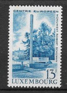 Luxembourg 1966 Robert Schuman Monument MNH**