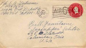 United States A.P.O.'s 2c Washington Circular Die Envelope Overprinted Air 6c...