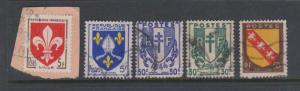 France Coat of Arms x 5 Used