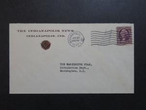 US 1933 The Indianapolis News Cacheted Cover - Z9136