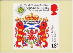 Great Britain. 1987 Scottish Heraldry. PHQ Cards(4) Unused