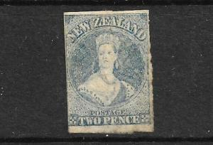 NEW ZEALAND 1862-64  2d  SLATE  BLUE    FFQ  IMPERF MLH  CP A2D6  SG 37 CHALON