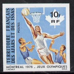 French Afars & Issas 1976 Montreal Olympics 10f Baske...