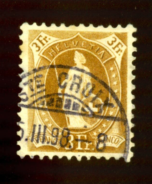 Switzerland #88B Used F-VF Cat$24