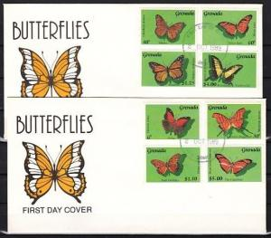 Grenada, Scott cat. 1756-1763. Butterfly issue on a First Day Cover.