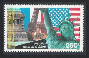 Djibouti Centenary of Statue of Liberty 1v SG#979