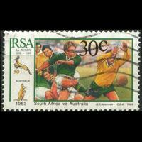 SOUTH AFRICA 1989 - Scott# 771 Rugby 30c Used