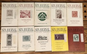 Society of Philatelic Americans SPA Journal - 10 different issues from 1979