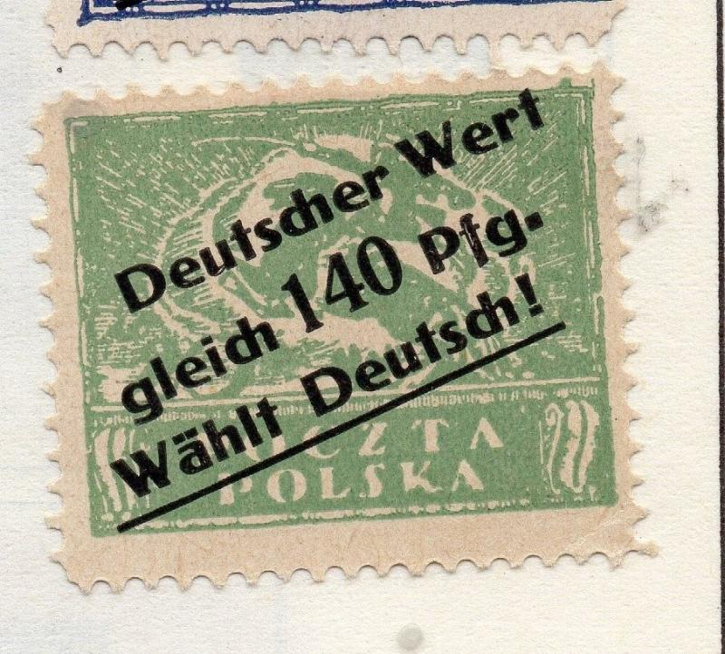 Poland 1941-44 Early Issue Fine Mint Hinged 140pf. Surcharged Optd 190940