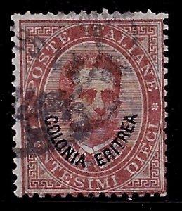 Eritrea # 4, Used. CV $ 17.50