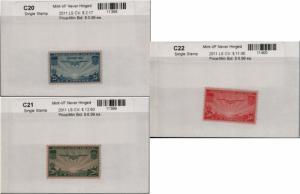 US C20-C22 MNH Airmail