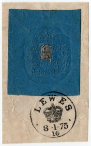 (I.B) QV Revenue : Impressed Duty 5/- (Lewes 1875)
