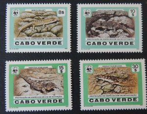 cape verde 1986 WWF desert island lizards geckos and skinks reptiles