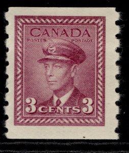CANADA GVI SG392, 3c purple, M MINT. Cat £13.