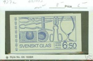 SWEDEN Stamp Booklet Scott 927a CV$8