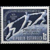 AUSTRIA 1955 - Scott# 605 Trade Union Set of 1 NH