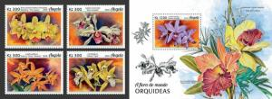 Z08 IMPERF ANG18120ab Angola 2018 Orchids Flowers MNH ** Postfrisch
